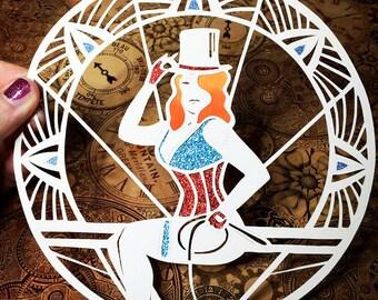 Papercut Circus Pin Up Girl