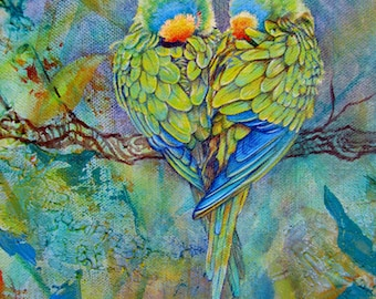Lovebirds Ceramic Tile