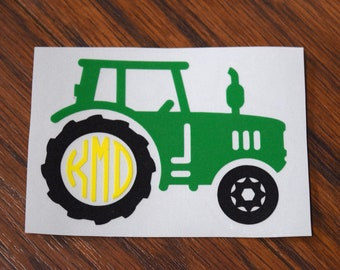 Monogram Tractor Vinyl Decal, Farmer Decal, Farming Decal, Agriculture Decal, Farm Machinery Decal, Boys Tumbler Decal, Tractor Sticker