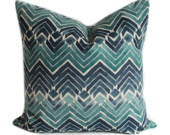 Blue pillow covers, Blue throw pillows, Decorative pillow, Chevron pillow, Sofa cushions, Shams, Lumbar pillow, 12 sizes available