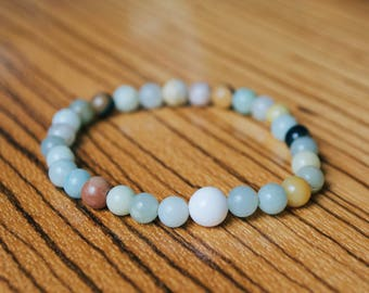White Sea Glass Bracelet