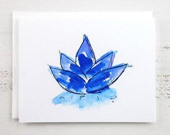 Blue Lotus Note Card