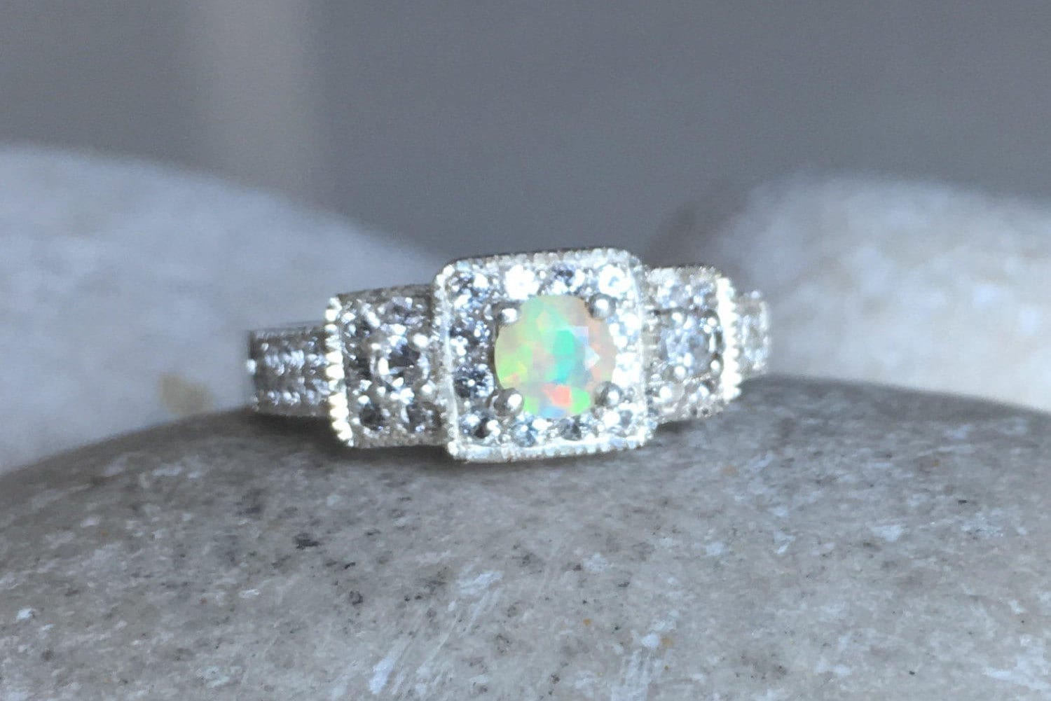 triplet spectacular real engagement sterling style antique media or ringspectacular large filigree opal genuine natural rings australian ring ringlarge