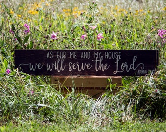 As for me and my house, we will serve the Lord, bible verse, customizable, personalized, custom sign, wood sign