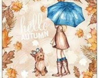 Hello Autumn sticky notes pad