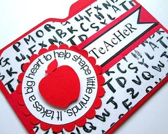 Teacher Gift Card Holders, Teacher Appreciation, Teacher Thank You, School Gift Card Envelopes, Teacher Cards, Teacher Gifts