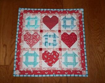miniature heart quilt