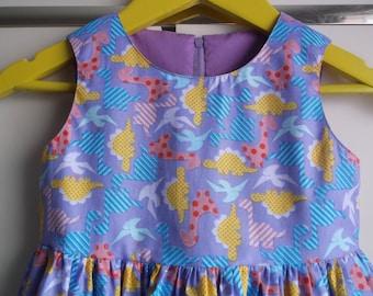 Lilac dinosaur dress