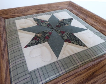 Quilted Eight Pointed Star ~ Framed