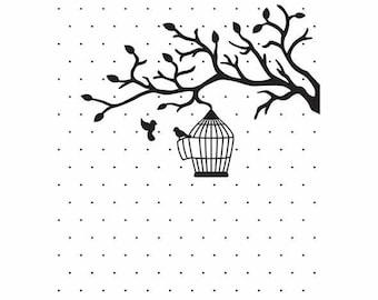 "Embossing workbook ""love birds"" 10.6 x 15 cm_VINF005"