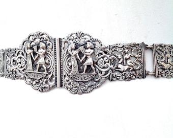 1920s belt Egyptian Revival decorative antique vintage EPNS