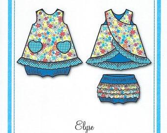 Bonnie Blue Pattern #151 / ELYSE / Sizes 3 mo - 3 yr