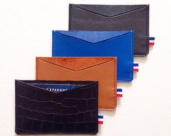 card holder in real leather