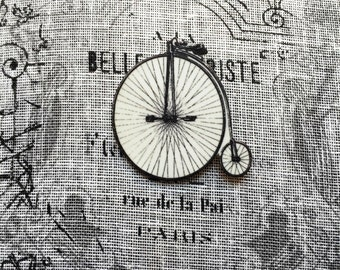Vintage Bicycle - Brooch - Pin