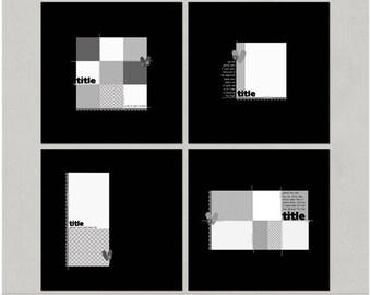 Block It Out - 12x12 Digital Scrapbooking Templates