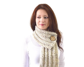 Knit Chunky Men Woman Buttoned Scarf | The Munich
