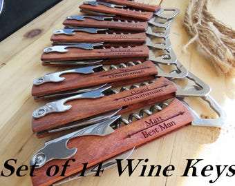 Personalized, Engraved Groomsmen Gifts, Birthday, Hunting, Camping, Father's Day, Gift for Him, Men, Bottle Opener, Will you be my Groomsman