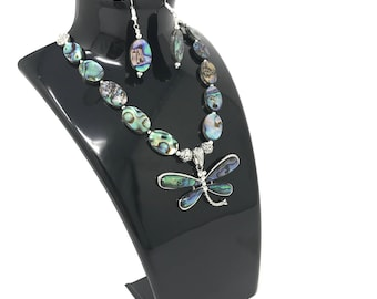 Designer Necklace, Abalone Butterfly