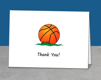 Thank You Basketball, Coach, Mentor, Team Gift, Coach Thank You, Basketball Card, Coach Card, Basketball Party, Simple Card, Greeting Card