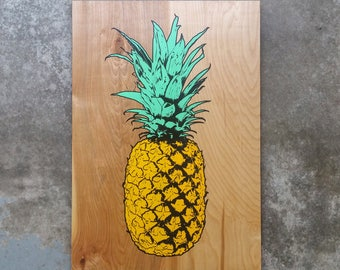 Limited Edition Pineapple Wood Print