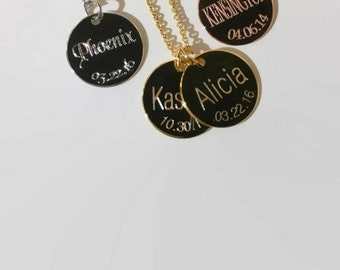Mothers necklace personalized names necklace new mom gift grandma Christmas gift custom name necklace multiple engraved disc necklace