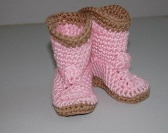 Cowgirl boots - Crochet