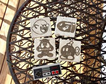 Mario Bad Guys Stone Coasters