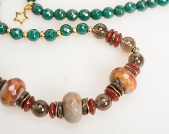 EARTH - Natural Stone Beaded Necklace