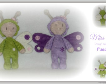 Crochet pattern Miss bee and Miss Butterfly