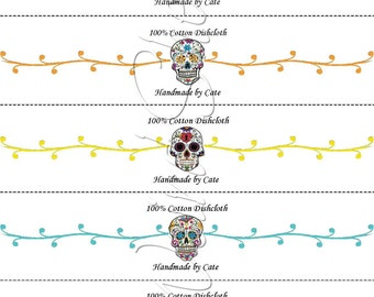 Sugar Skull A Dishcloth/Washcloth Wraps - PDF FILE ONLY