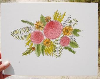 Rose Bouquet - 9x12