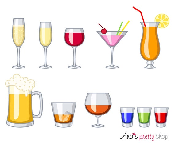 Alcohol glasses clipart drinks wine glass champagne