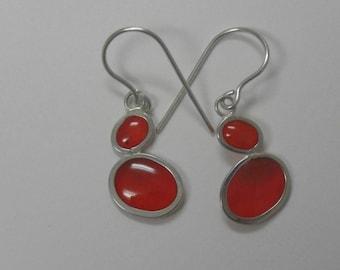 volcanic reds pebble earrings
