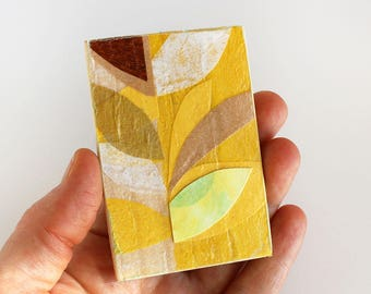 Original Artwork for the Modern Miniature Home - Bold Gold + Yellow Leaves