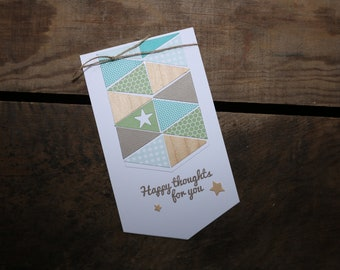 Happy thoughts for you handmade greeting card