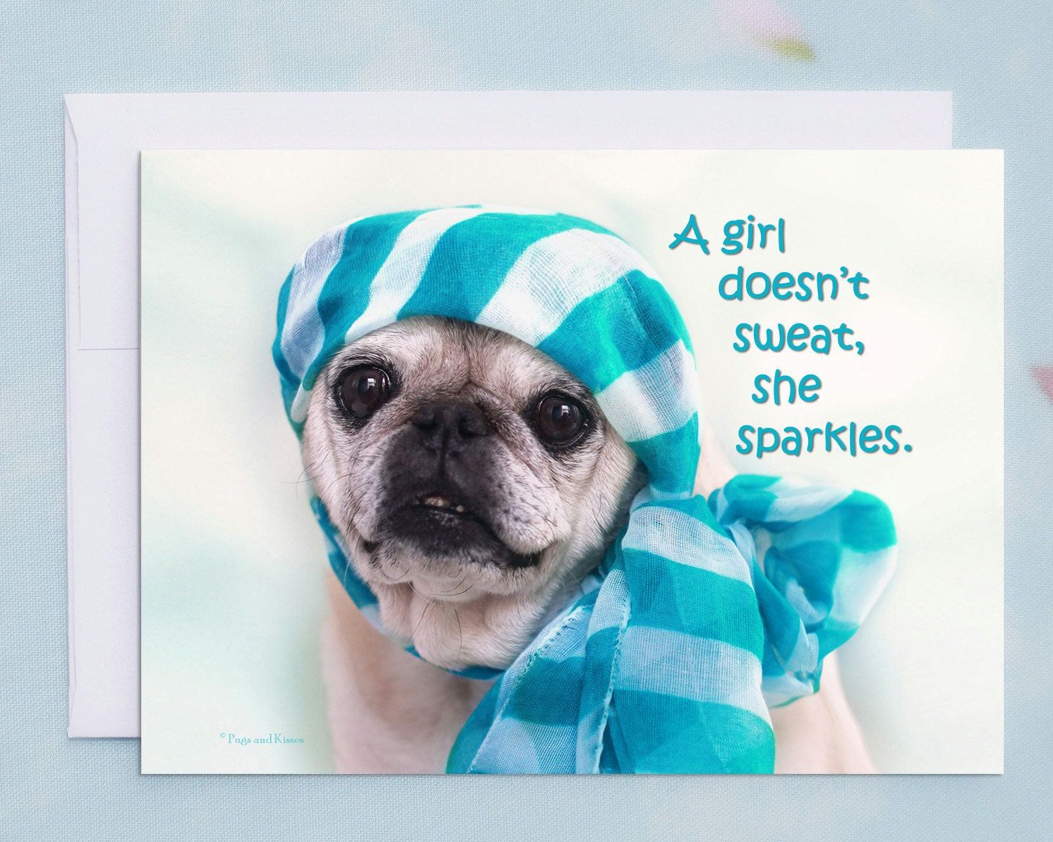 Funny Birthday Card for Her A Girl Doesnt Sweat Happy Birthday