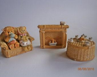 Leonardo Collection Teddy Bear Family Figurines, Christmas decor,table decor,
