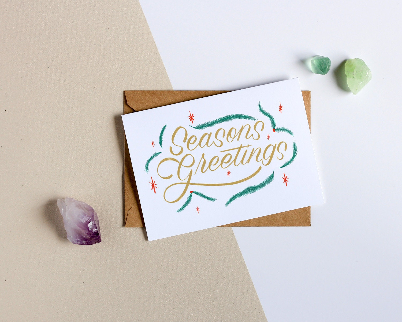 Seasons Greetings Holiday Greeting Card