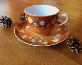 Czech yourself. Rad Czech tea cup and saucer, circa 1960s/70s