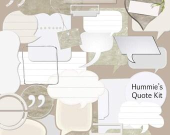 Digital Scrapbooking Quote Speech Bubble Kit