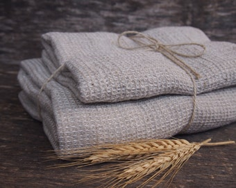 Set of 2 Linen Bath Towels, Eco Linen Towel, Linen Towel, Linen Gift