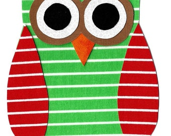 Iron on owl applique DIY