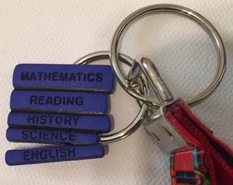 Teacher School Days Key Wristlet School Button Key Fob Key Holder