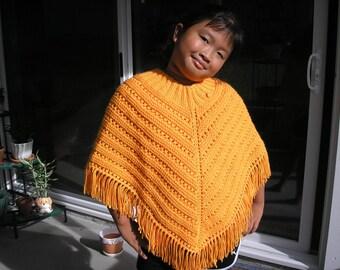 Knitted Poncho, Girls Large - Mango