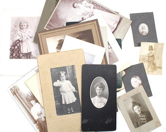 Vintage Photos, Woman and Kids Family photos from the 1900s, Digital Download