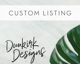Custom Listing for Beth Ann Kersse // Order 1 of 2: Printed Wedding Invitation Suites + Envelope Add-Ons