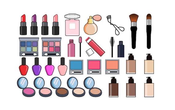 makeup clipart beauty clip art cosmetics clipart lipstick rh etsy com makeup clip art free clipart makeup artist