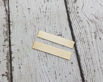 Nu Gold Tag Blanks - 18 Gauge Rectangle Tags - Nu Gold Stamping Blanks