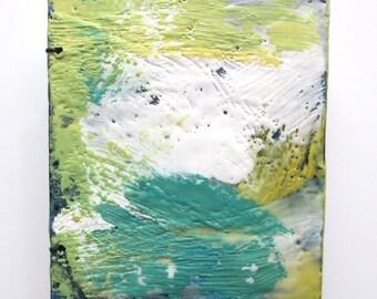 Handmade Sketchbook, altered art journal, mini books, encaustic covered journal, blank journal