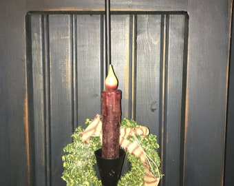 Primitive Christmas Candle
